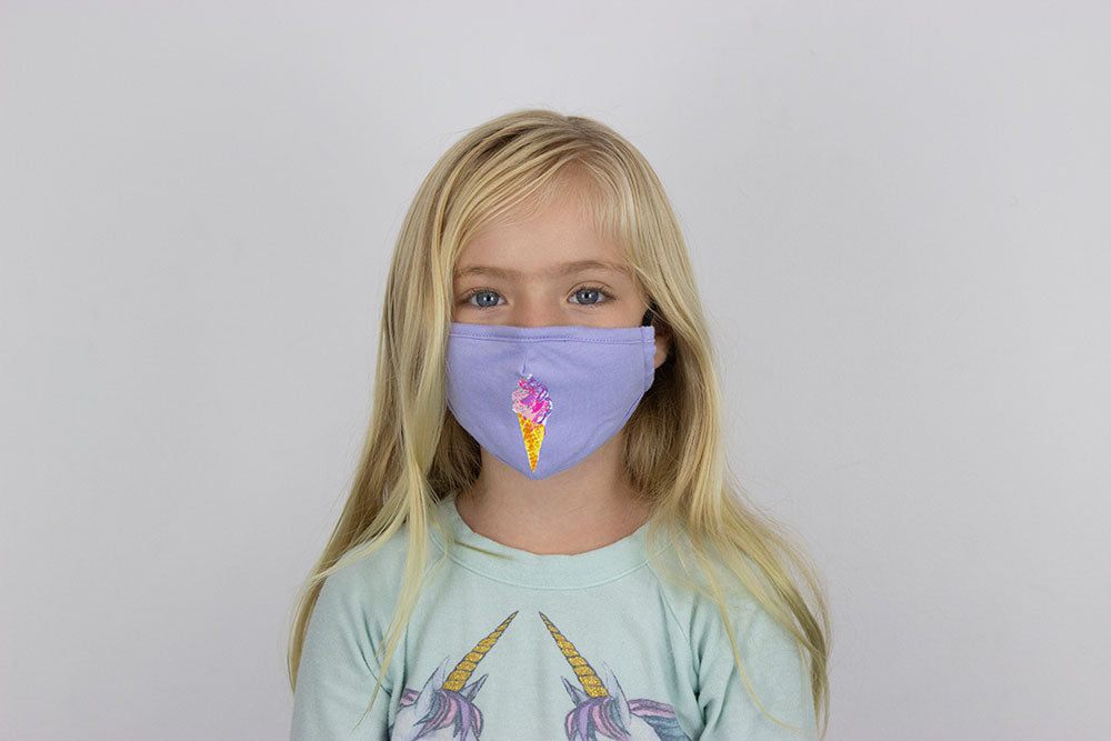 Kids Sprinkle Cone Mask