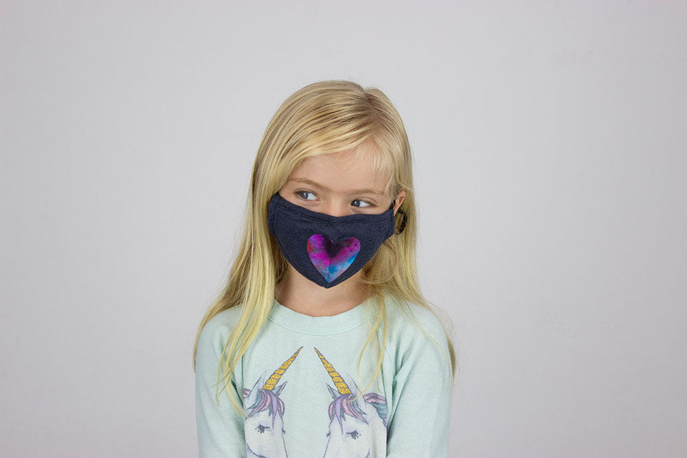 Kids Glitter Heart Mask