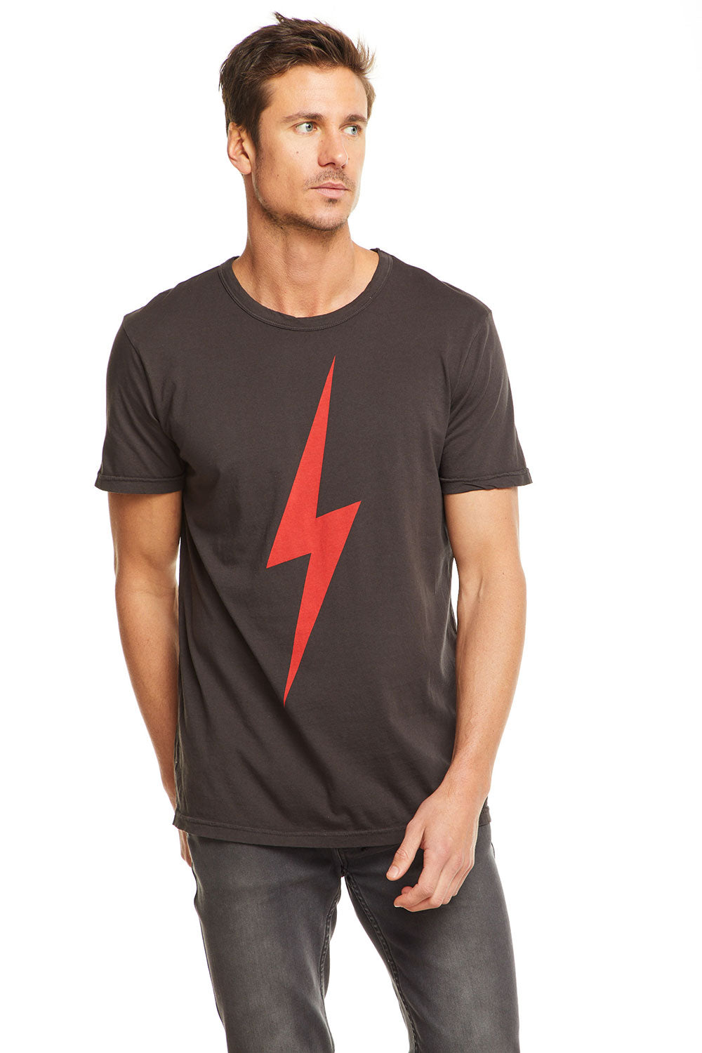 Red Lightning Bolt, MENS, chaserbrand.com,chaser clothing,chaser apparel,chaser los angeles