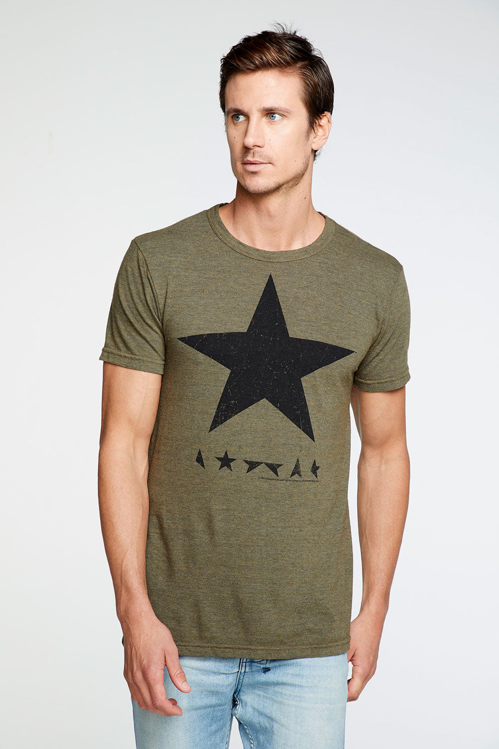 David Bowie - Black Star Crew Neck Tee MENS chaserbrand4.myshopify.com