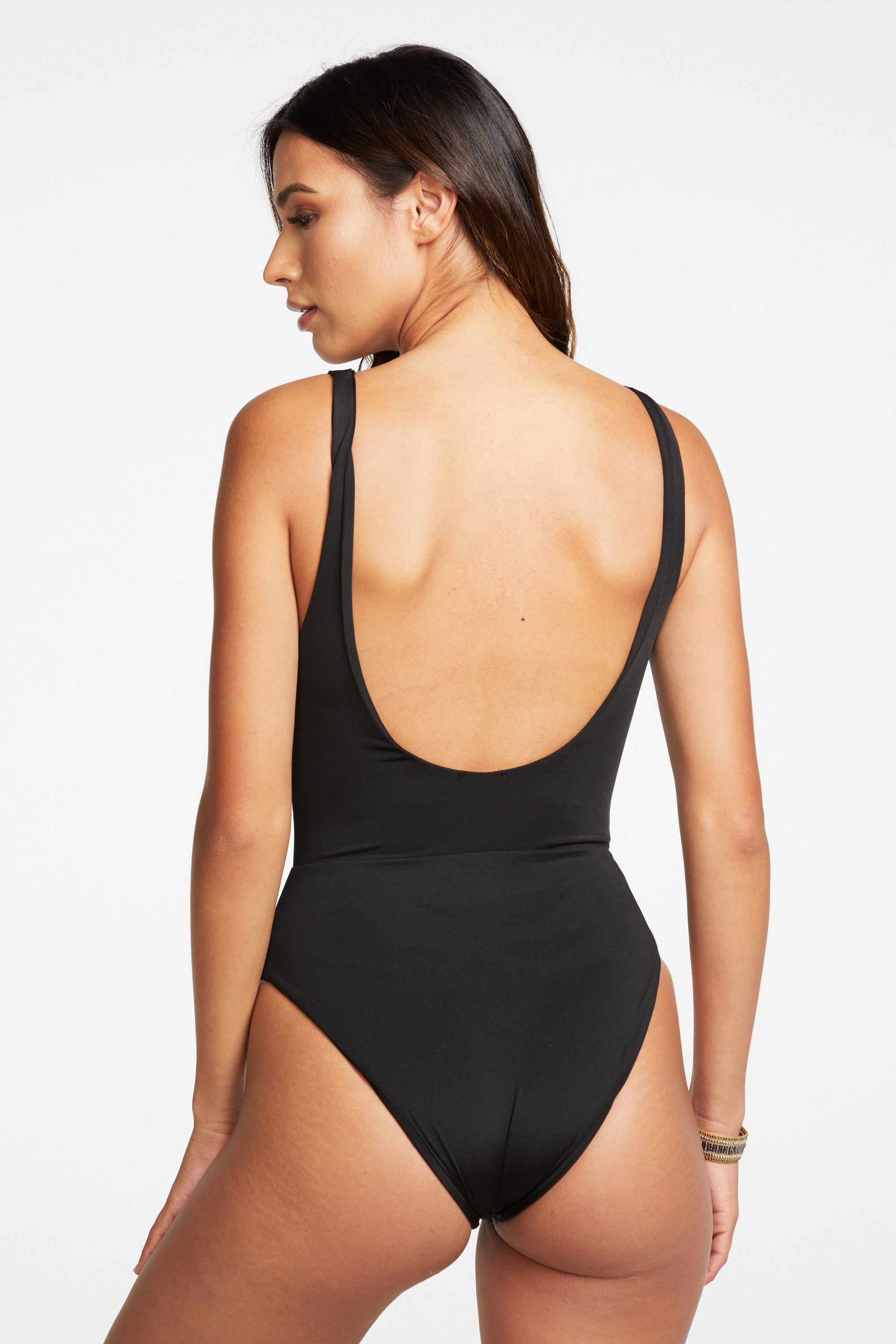 Swim Clasp Front Scoop Back One-Piece