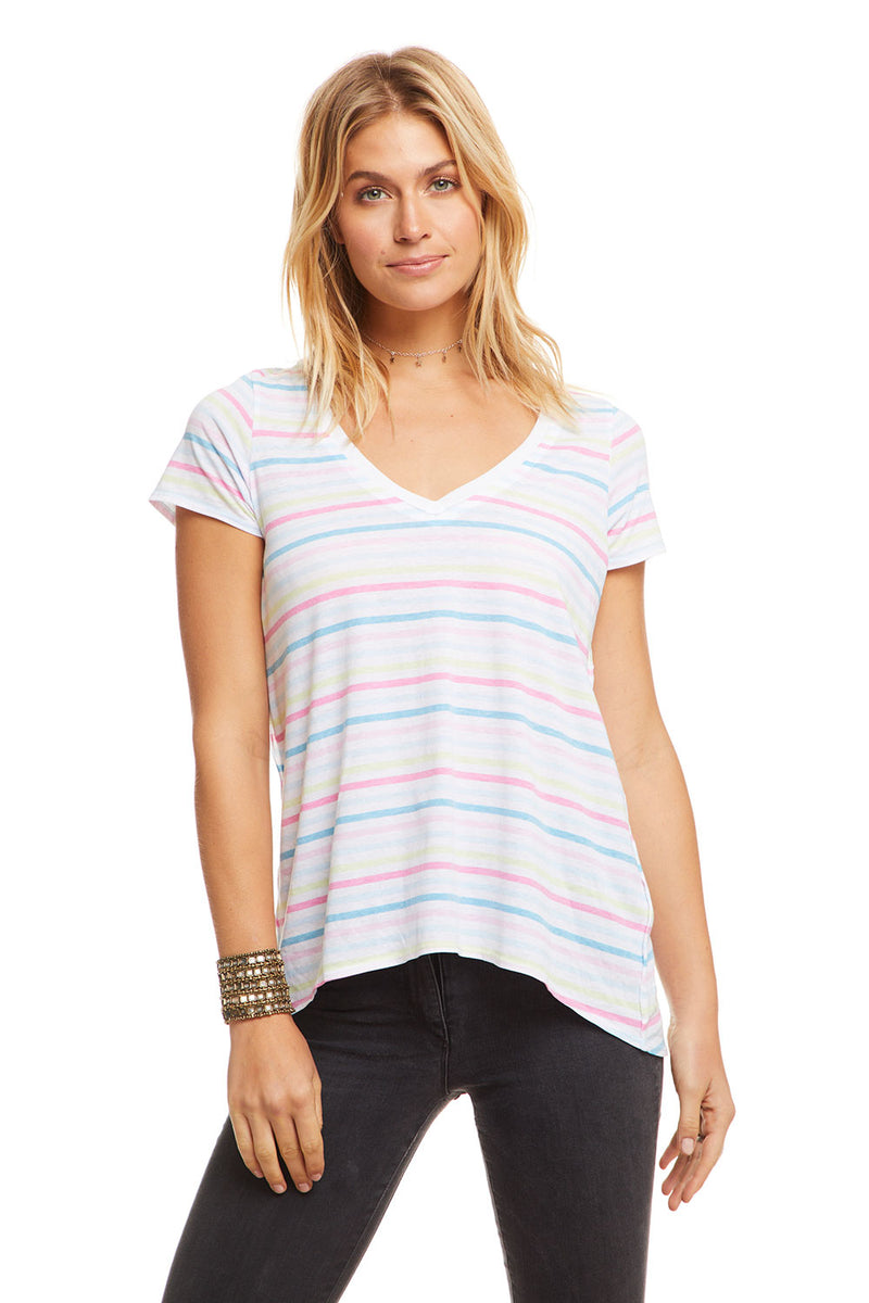 Pastel Stripes, WOMENS, chaserbrand.com,chaser clothing,chaser apparel,chaser los angeles