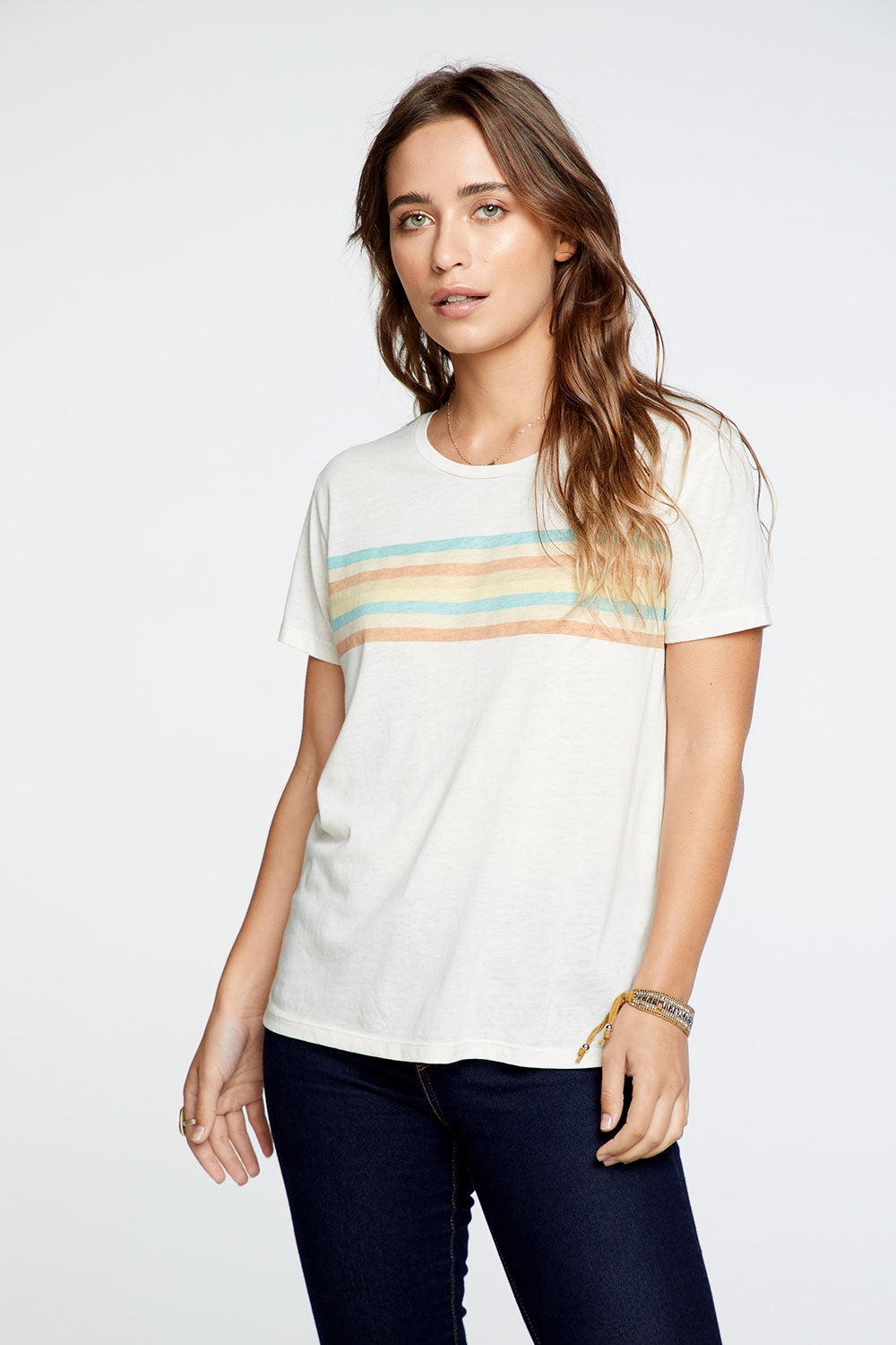 Pastel Rainbow Tee WOMENS chaserbrand4.myshopify.com