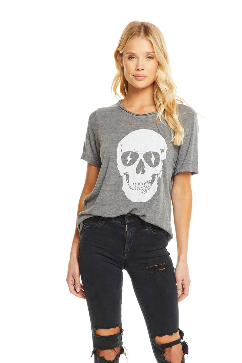 Lightning Skull, WOMENS, chaserbrand.com,chaser clothing,chaser apparel,chaser los angeles