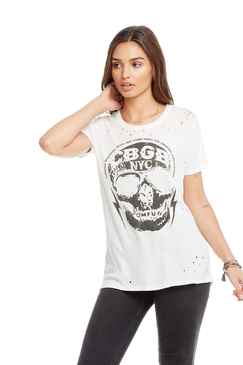 CBGB - CBGB Skull, WOMENS, chaserbrand.com,chaser clothing,chaser apparel,chaser los angeles