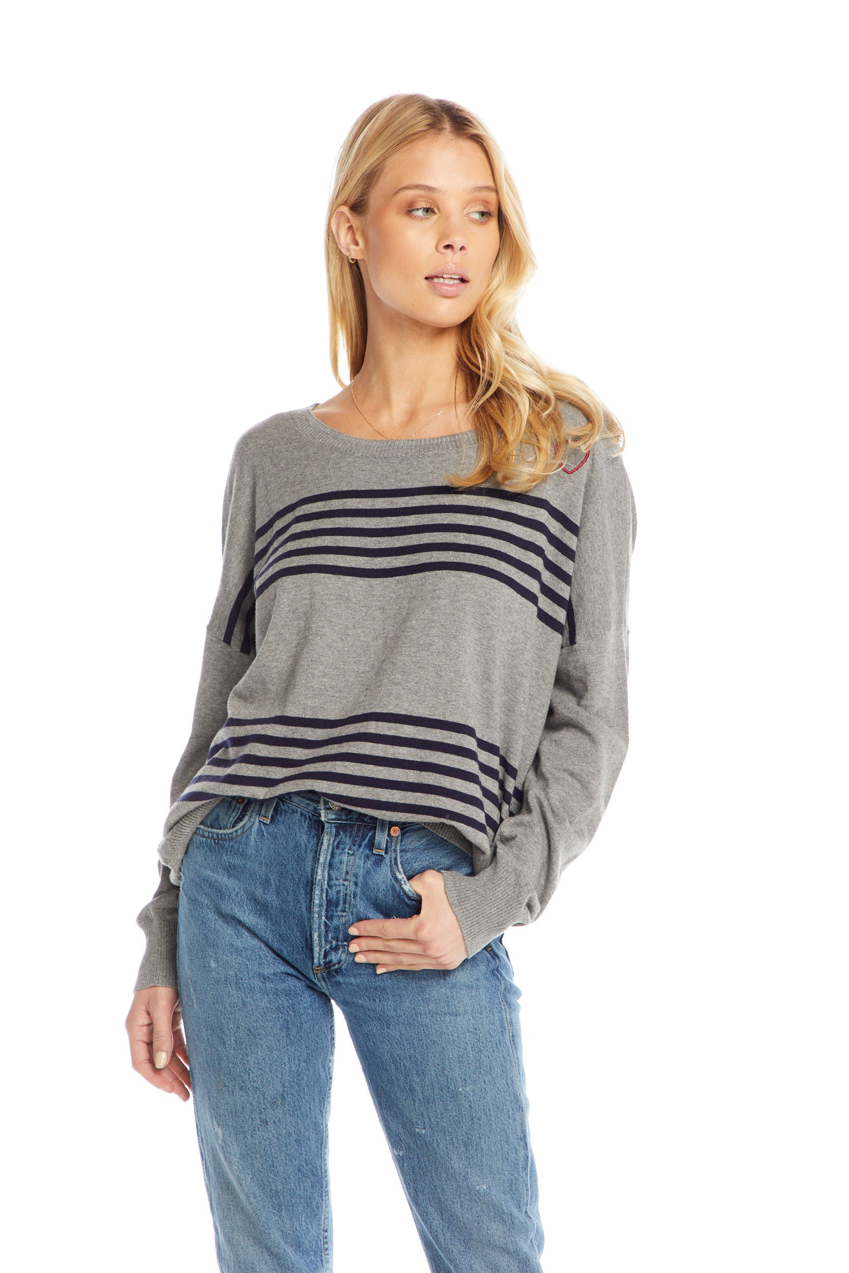 Cotton Cashmere L/S Wide Neck Dolman Pullover WOMENS chaserbrand4.myshopify.com
