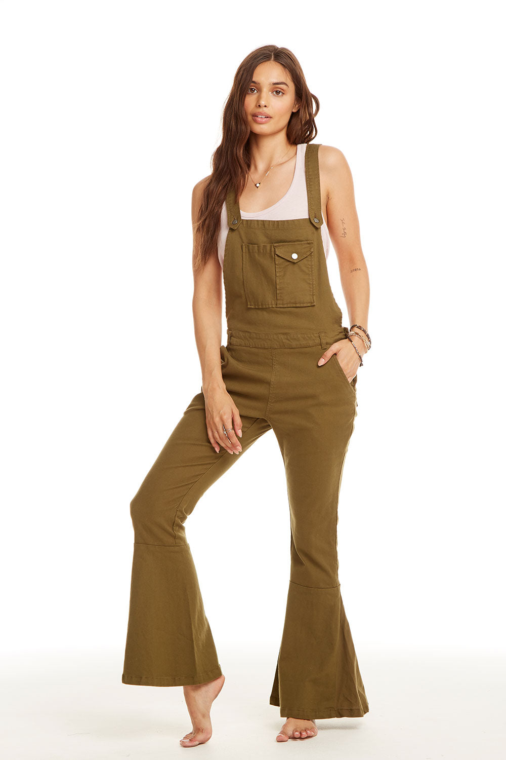 Vintage Canvas Flared Cross Back Overalls WOMENS chaserbrand4.myshopify.com