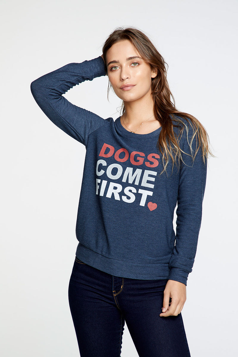 Dogs Come First Charity Sweatshirt WOMENS chaserbrand4.myshopify.com