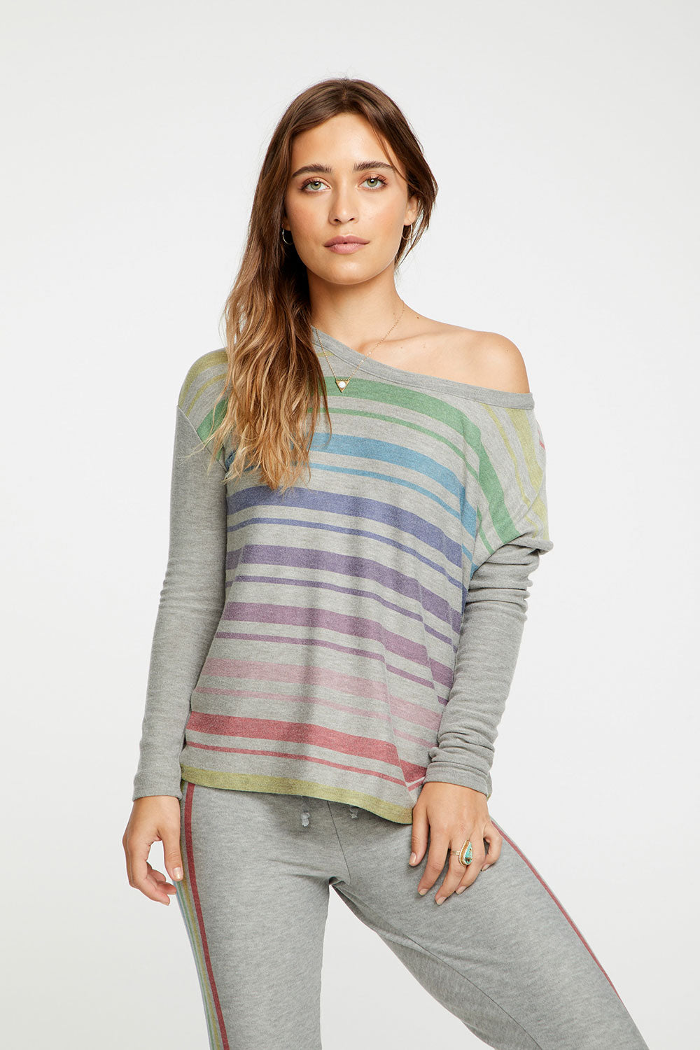 Rainbow Stripes, WOMENS, chaserbrand.com,chaser clothing,chaser apparel,chaser los angeles