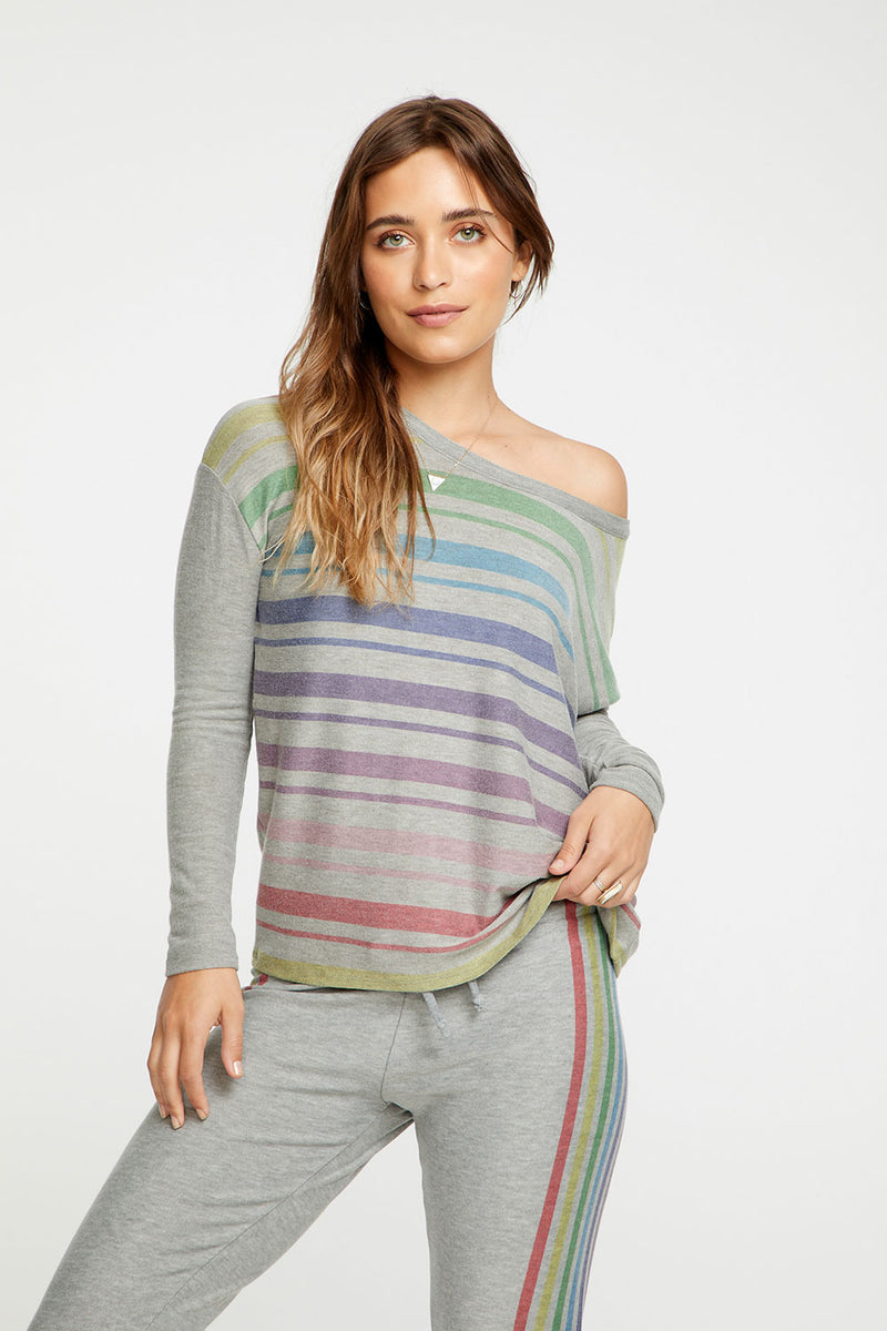 Rainbow Stripes WOMENS chaserbrand4.myshopify.com