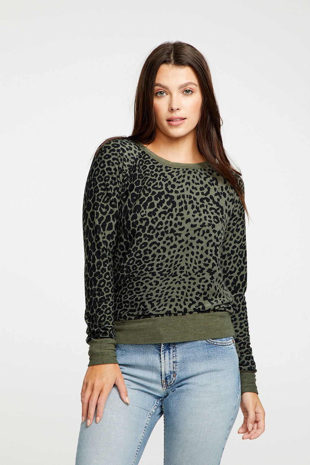 Animal Print Pullover Long Sleeve, WOMENS, chaserbrand.com,chaser clothing,chaser apparel,chaser los angeles