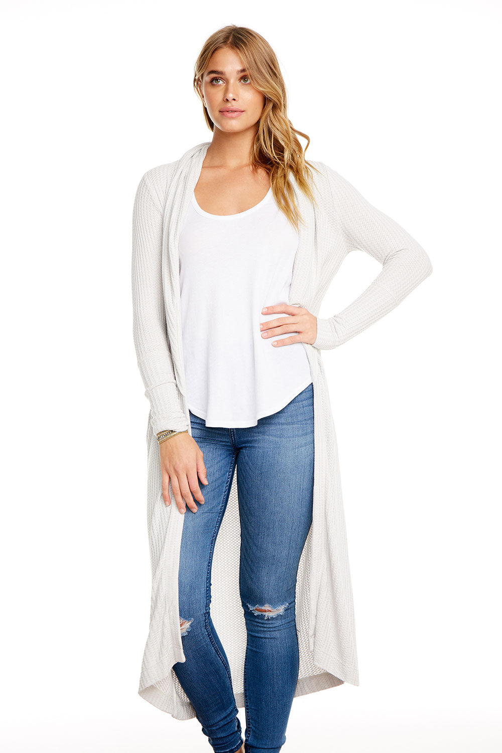 THERMAL L/S SHAWL COLLAR OPEN FRONT DUSTER, WOMENS, chaserbrand.com,chaser clothing,chaser apparel,chaser los angeles