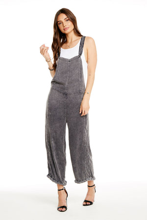 HEIRLOOM WOVENS CROSS BACK CROPPED EASY CULOTTE OVERALLS