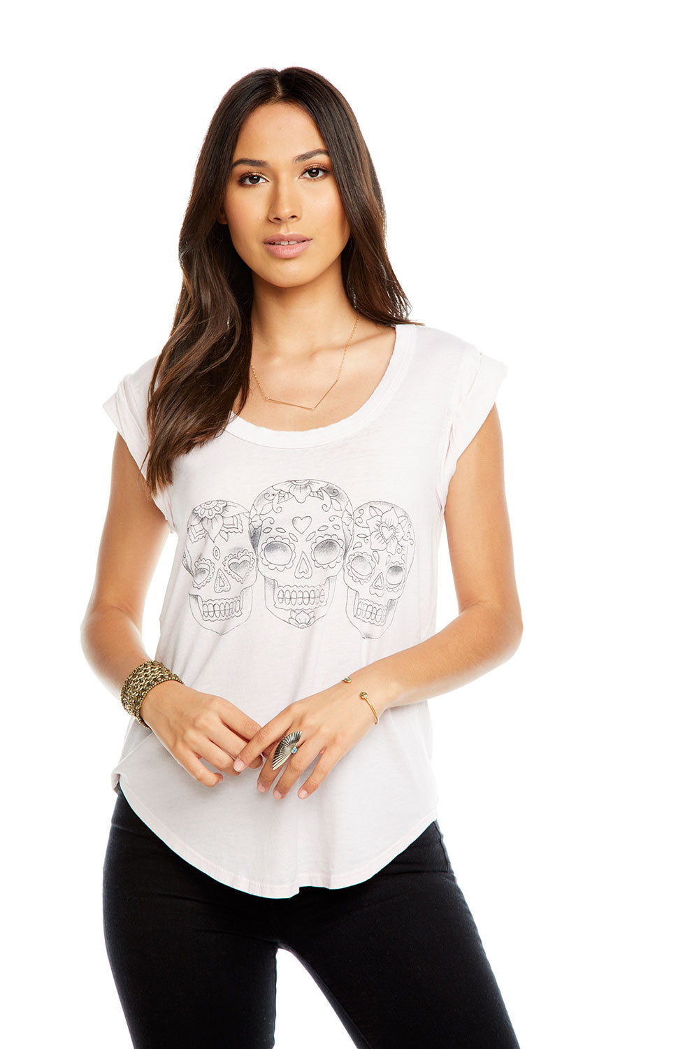 HAND DRAWN CALAVERAS, WOMENS, chaserbrand.com,chaser clothing,chaser apparel,chaser los angeles