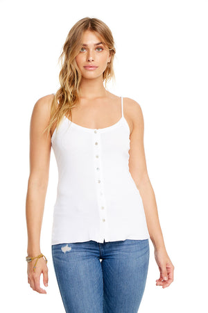BABY RIB BUTTON DOWN CAMI