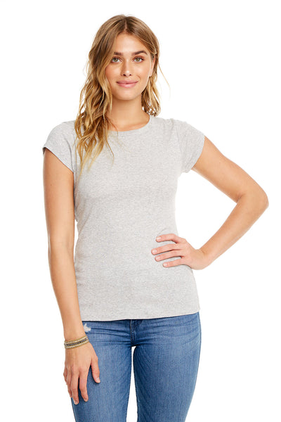 BABY RIB CAP SLEEVE KNOT BACK TEE, WOMENS, chaserbrand.com,chaser clothing,chaser apparel,chaser los angeles