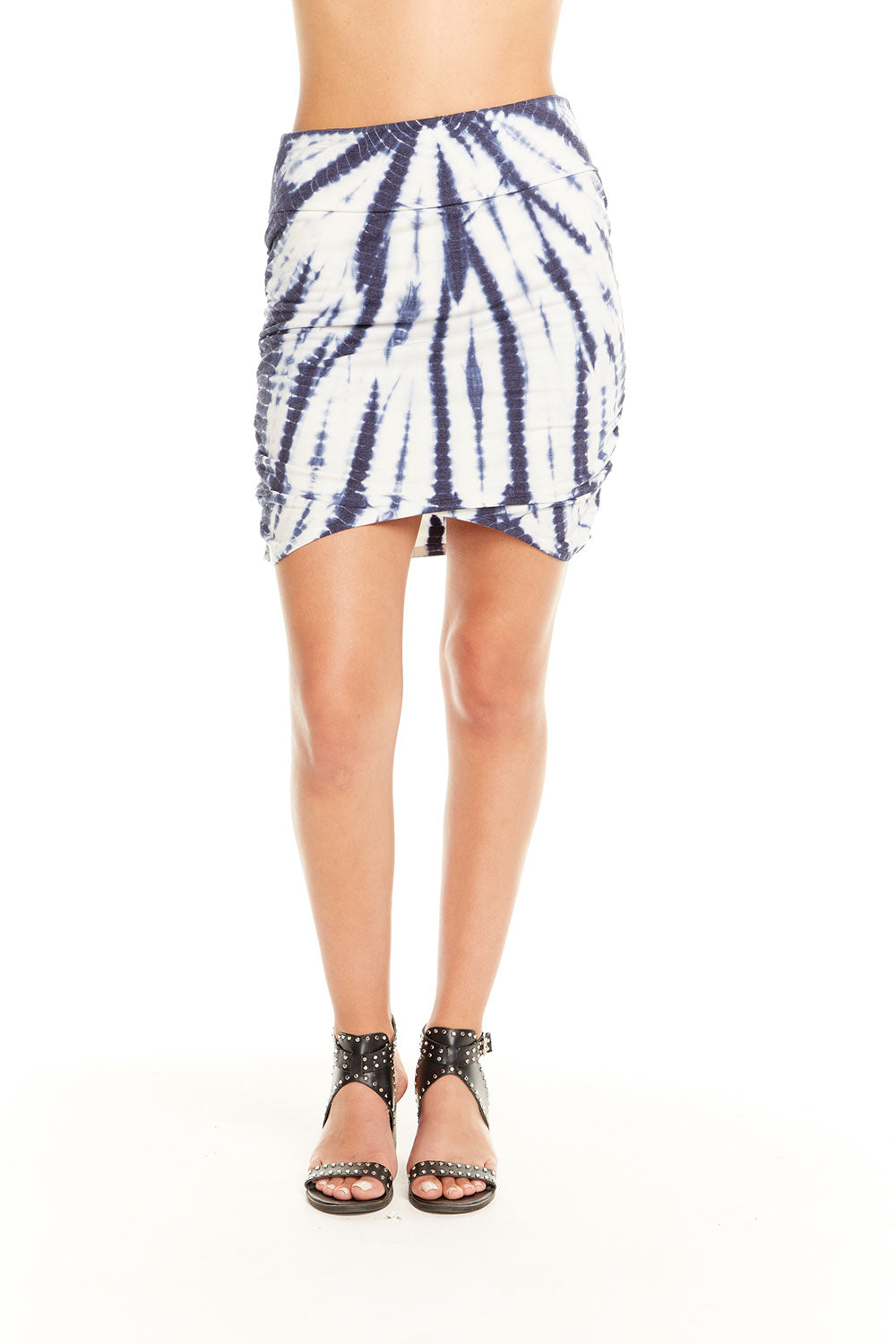 Quadrablend Ruched Asymmetrical Mini Skirt WOMENS chaserbrand4.myshopify.com