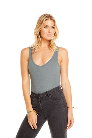 Scoop Neck Bodysuit, WOMENS, chaserbrand.com,chaser clothing,chaser apparel,chaser los angeles