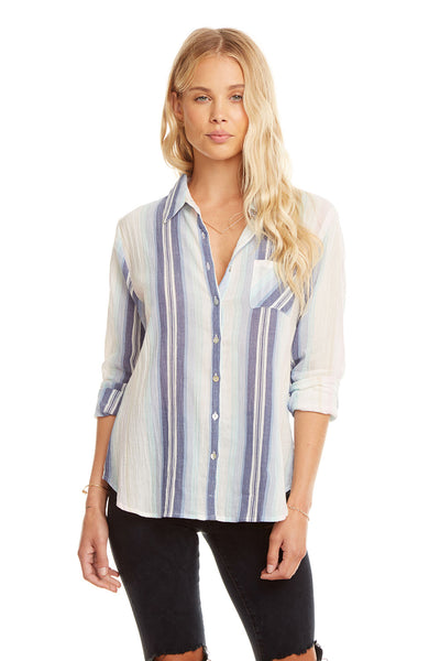 Classic L/S Button Down Shirt, WOMENS, chaserbrand.com,chaser clothing,chaser apparel,chaser los angeles