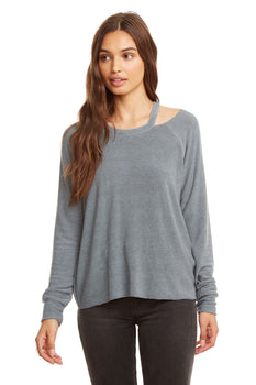 ea9b45620 Cozy Knit L/S Raglan Vented Neck Pullover - chaserbrand.com