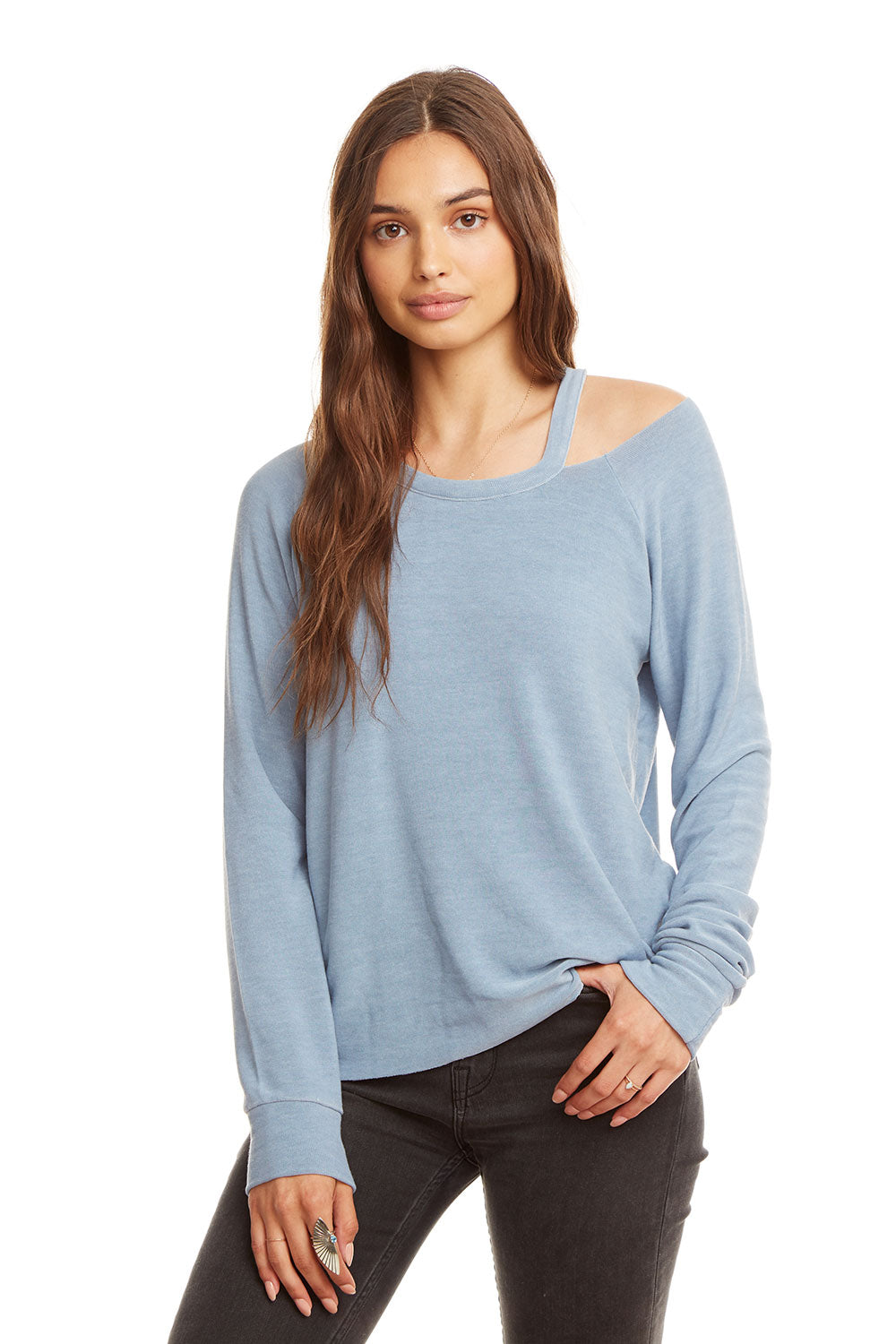 0eed6555d Cozy Knit L/S Raglan Vented Neck Pullover, WOMENS, chaserbrand.com,