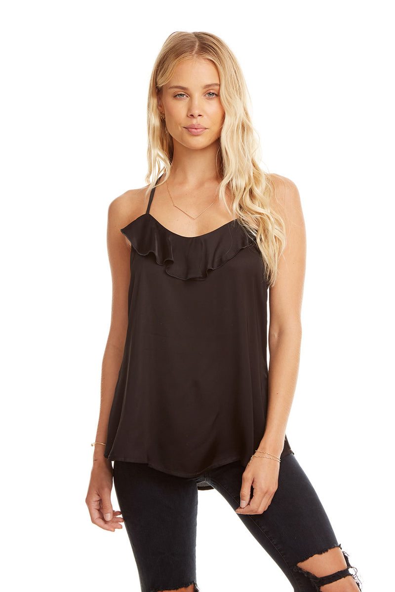 Silky Ladder Back Cami, WOMENS, chaserbrand.com,chaser clothing,chaser apparel,chaser los angeles