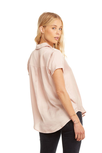 Silky Rolled S/S Button Down Shirt WOMENS chaserbrand4.myshopify.com