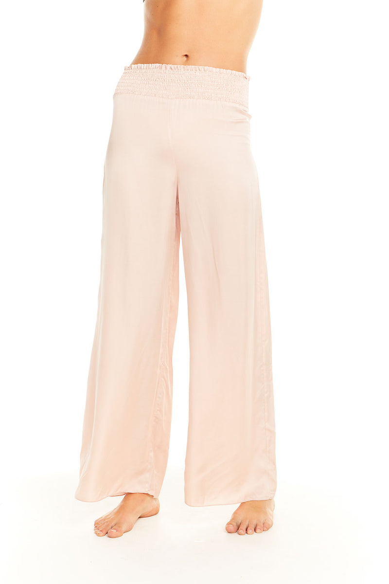 Silky Smocked Waist Wide Leg Pant BCA chaserbrand4.myshopify.com