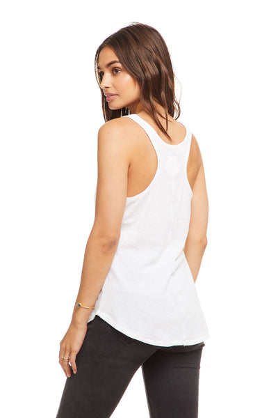 Cotton Basic Seamed Shirttail Racer Back Tank, WOMENS, chaserbrand.com,chaser clothing,chaser apparel,chaser los angeles