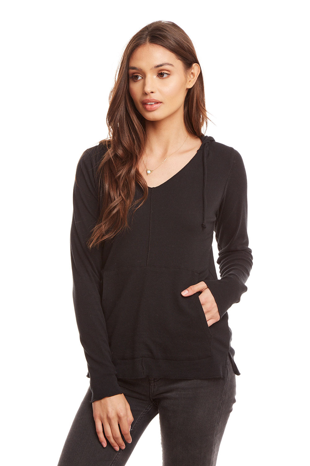 Baby Rib L/S Split Side Pullover Hoodie WOMENS chaserbrand4.myshopify.com