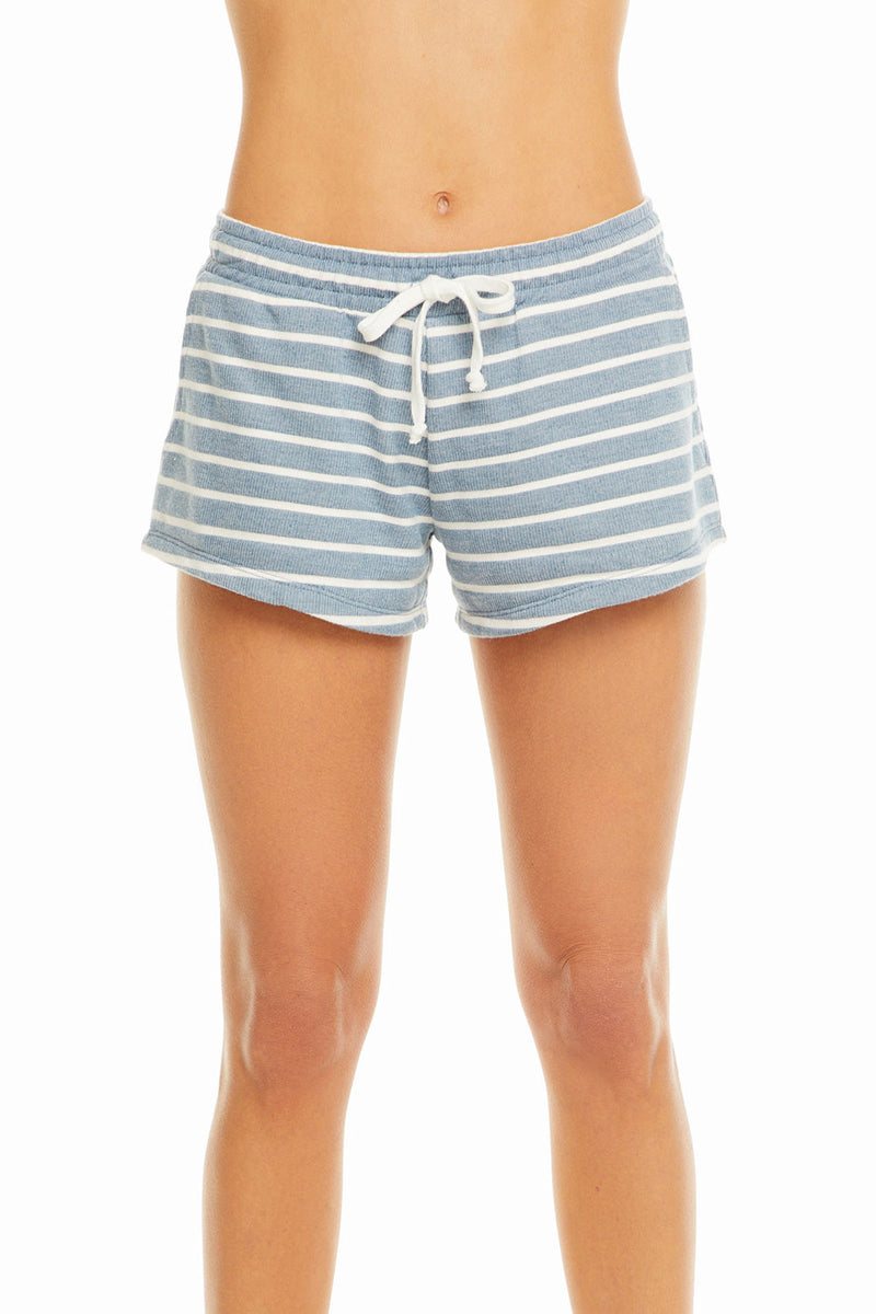 French Terry Striped Drawstring Shorts WOMENS chaserbrand4.myshopify.com