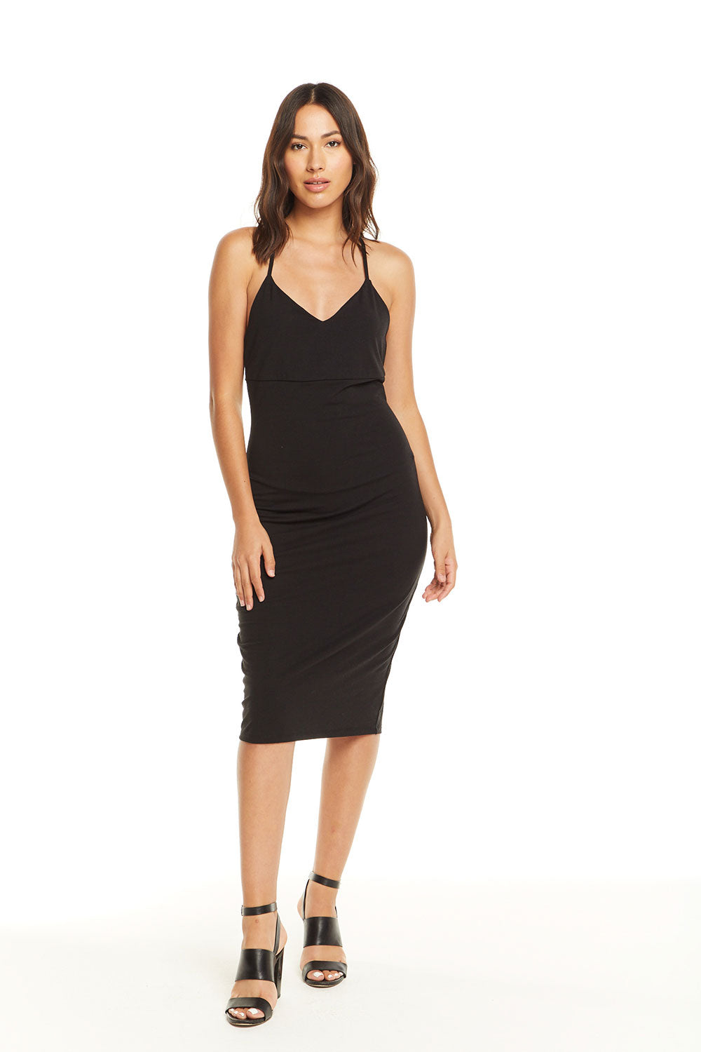 Quadrablend T-Back Sweetheart Bodycon Midi Dress WOMENS chaserbrand4.myshopify.com