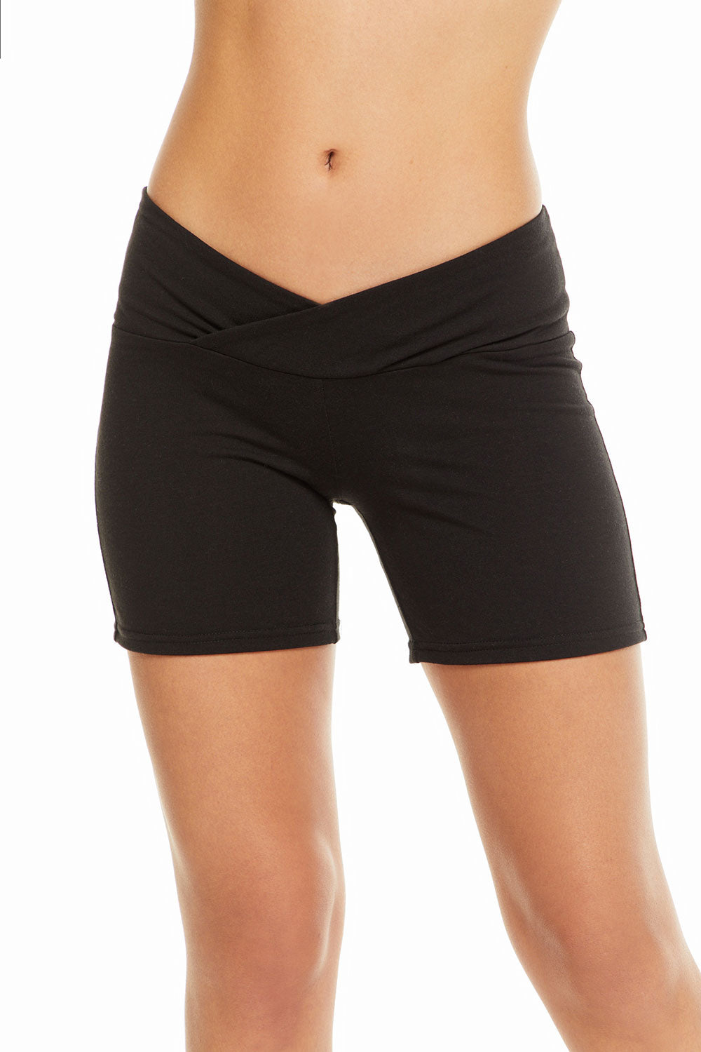 Quadrablend Overlap Waistband Active Shorts WOMENS chaserbrand4.myshopify.com