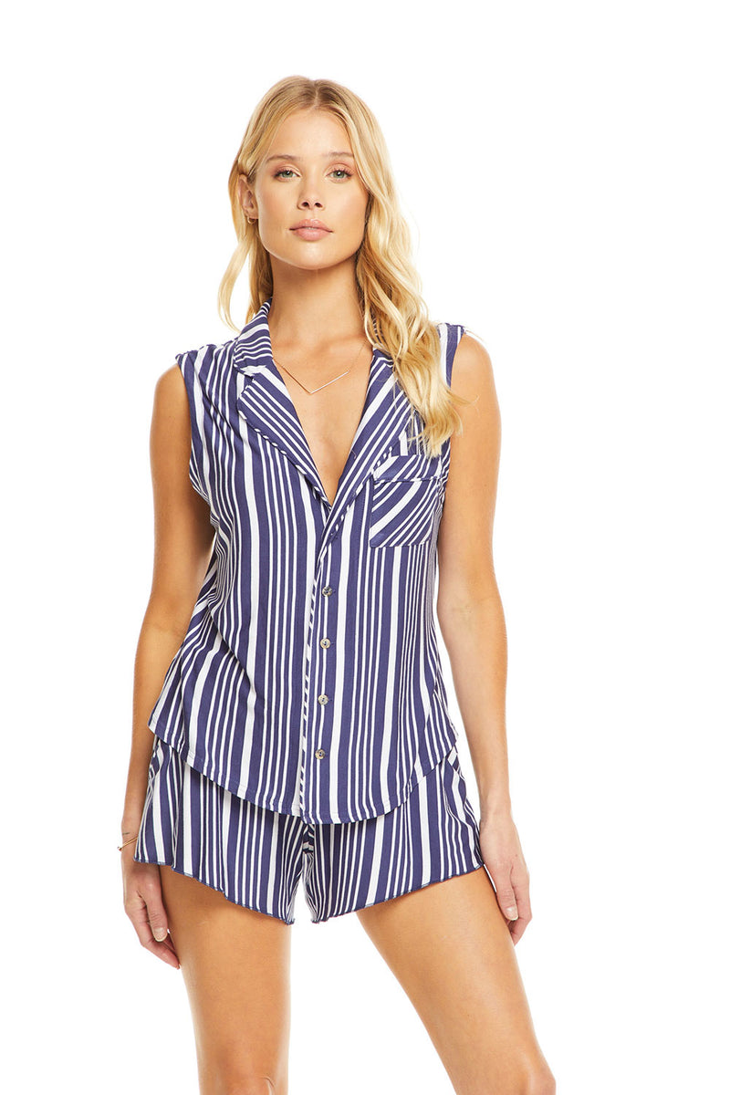 Cool Jersey Cap Sleeve Shirttail Pajama Top WOMENS chaserbrand4.myshopify.com