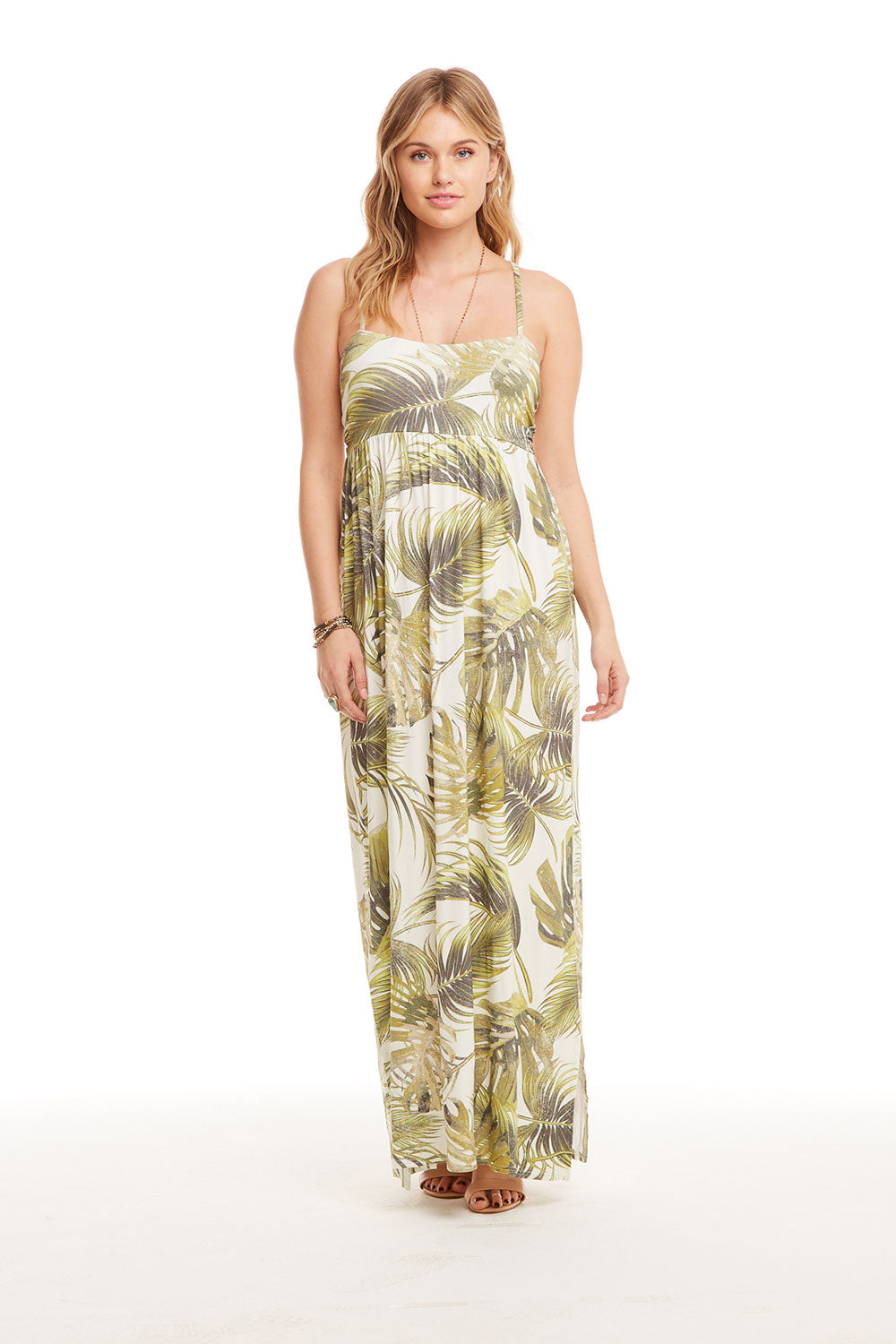Cool Jersey T Back Ruched Maxi Dress W/ Slits WOMENS chaserbrand4.myshopify.com