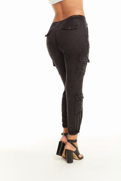 Heirloom Wovens High Waisted Snap Front Cargo Pant WOMENS chaserbrand4.myshopify.com