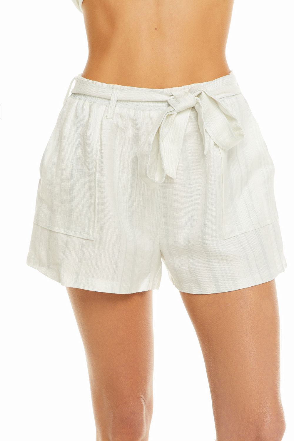 Beachy Linen Paperbag Waist Tie Shorts, WOMENS, chaserbrand.com,chaser clothing,chaser apparel,chaser los angeles