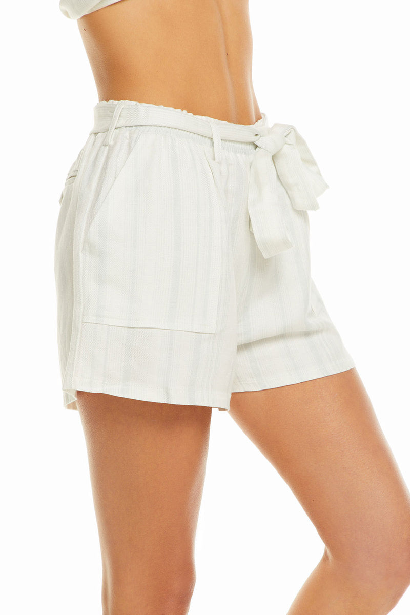 Beachy Linen Paperbag Waist Tie Shorts WOMENS chaserbrand4.myshopify.com