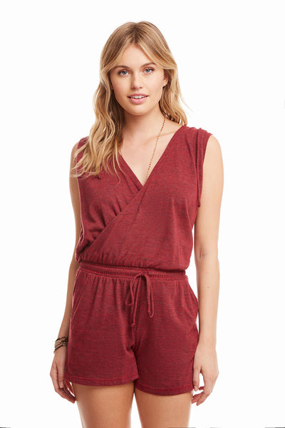 Triblend Sleeveless Hooded Surplice Romper WOMENS chaserbrand4.myshopify.com