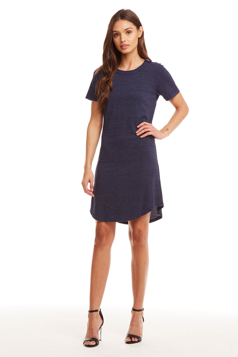 Triblend S/S Crew Neck Hi-Lo Shirttail T Shirt Dress WOMENS chaserbrand4.myshopify.com