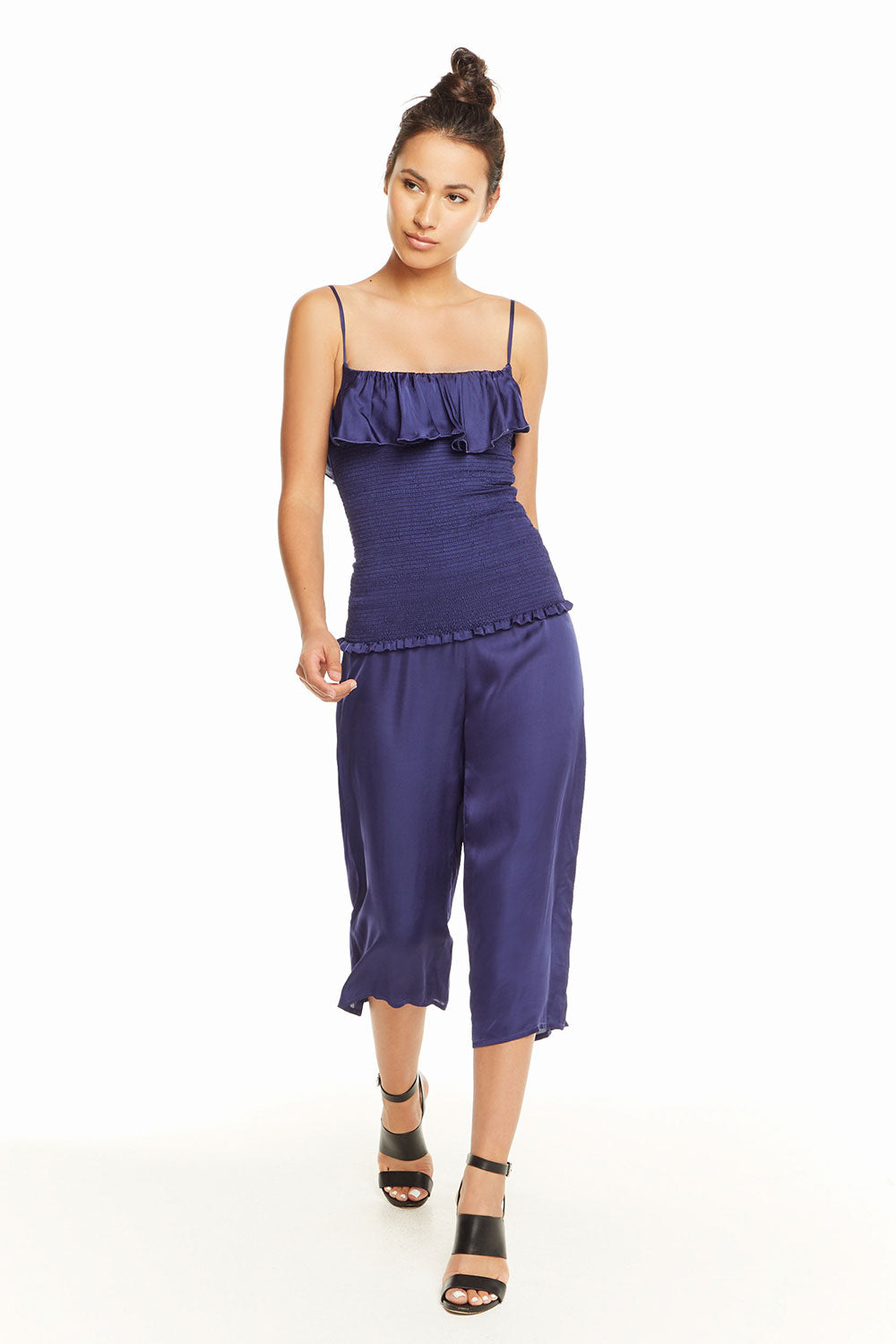 Silky Basics Wide Leg Zip Back Trouser, WOMENS, chaserbrand.com,chaser clothing,chaser apparel,chaser los angeles