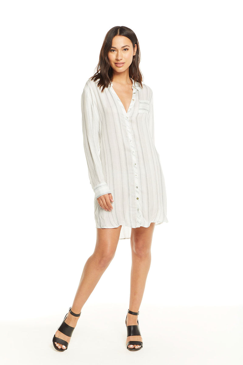 Heirloom Gauze L/S Button Down Shirt Dress WOMENS chaserbrand4.myshopify.com