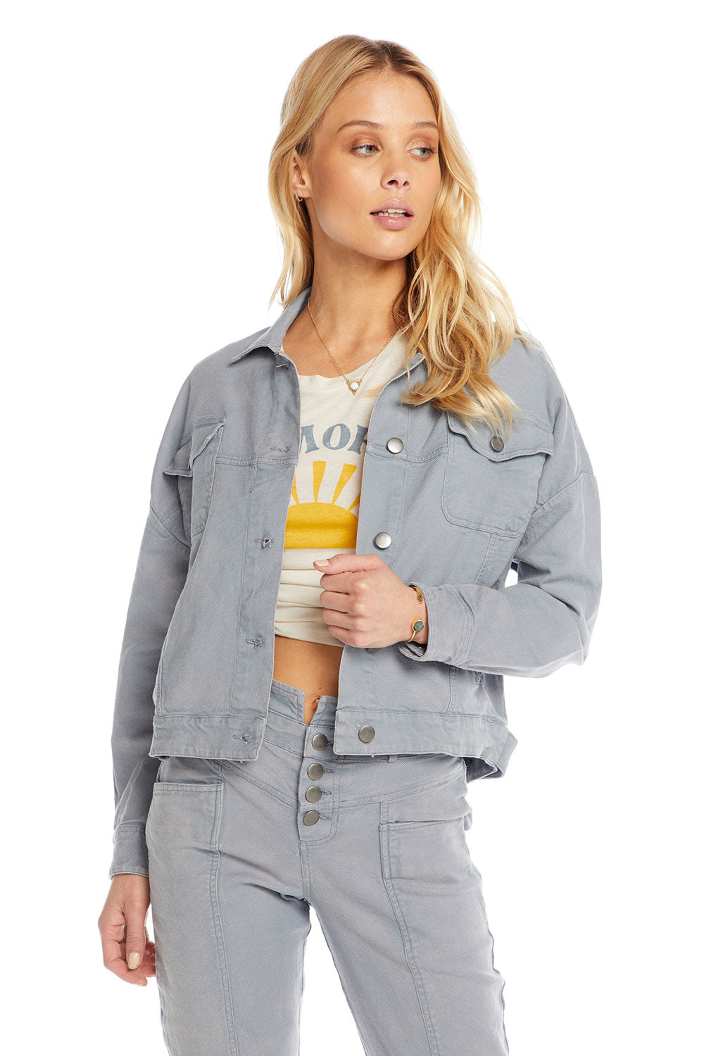 4327255dd0 Vintage Canvas Drop Shoulder Trucker Jacket, WOMENS, chaserbrand.com,chaser  clothing,