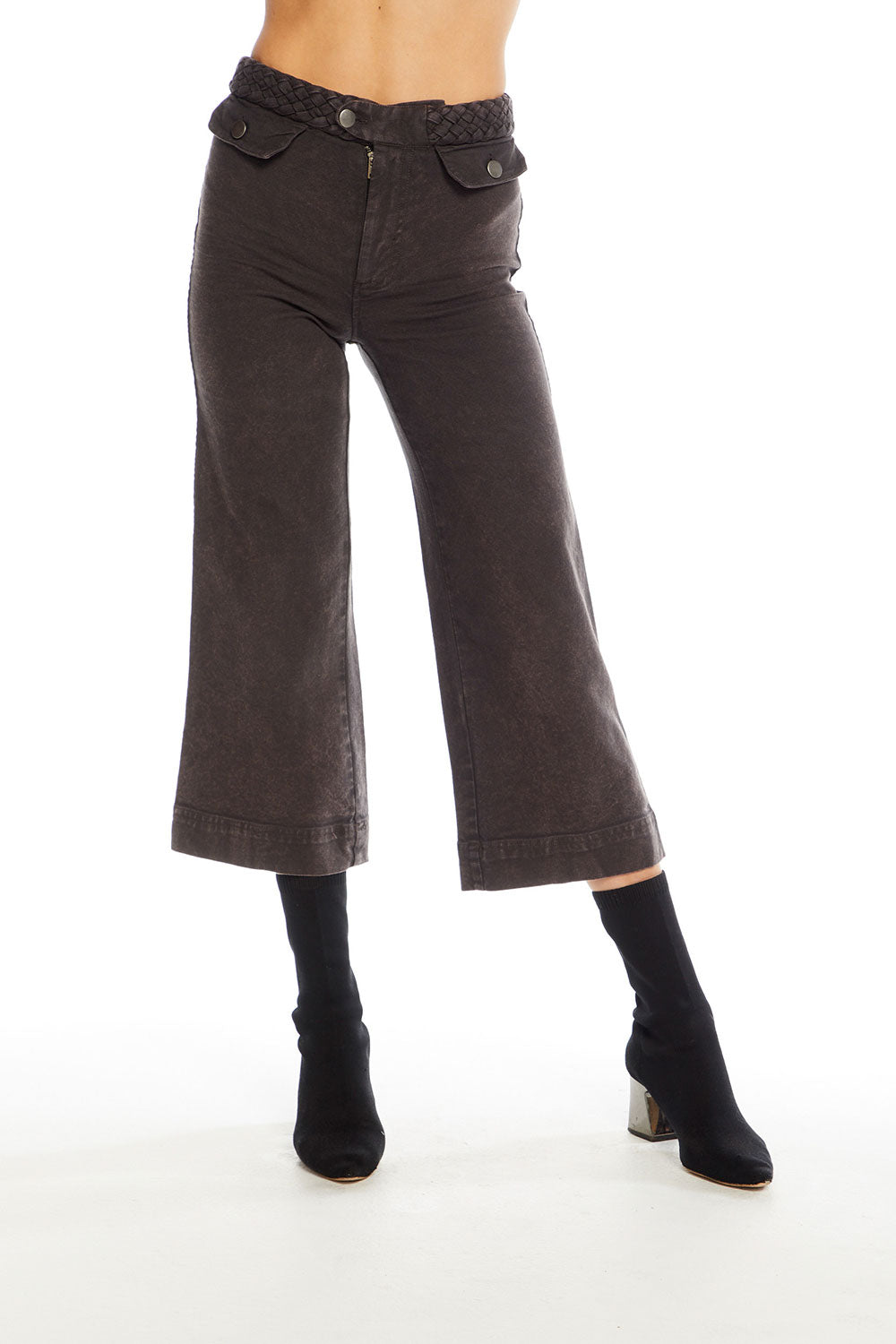 Vintage Canvas Braided High Waist Gaucho, WOMENS, chaserbrand.com,chaser clothing,chaser apparel,chaser los angeles