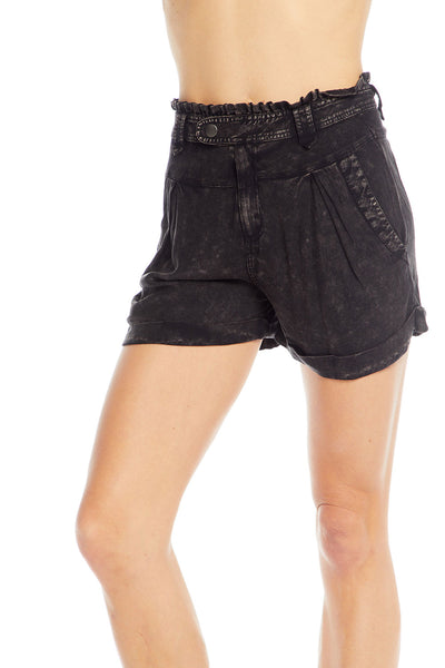 Heirloom Wovens Paperbag Waist Roll Hem Shorts WOMENS chaserbrand4.myshopify.com