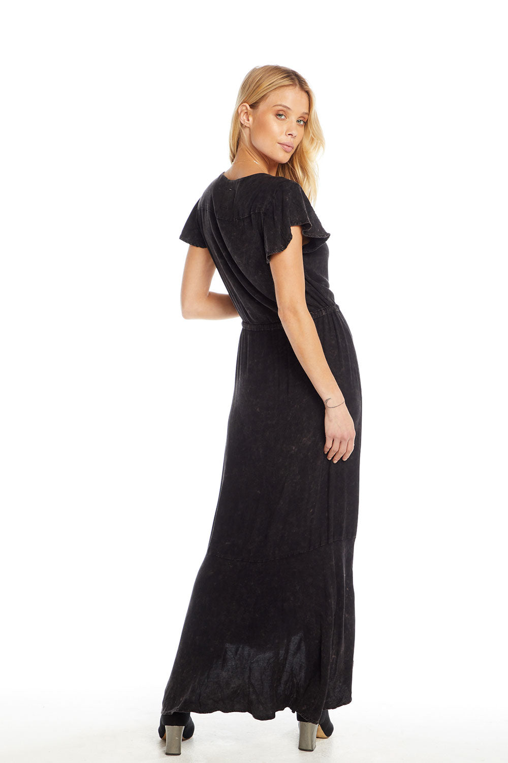 0f66f79abea Heirloom Wovens Flutter Sleeve Button Down Hi-Lo Maxi Dress