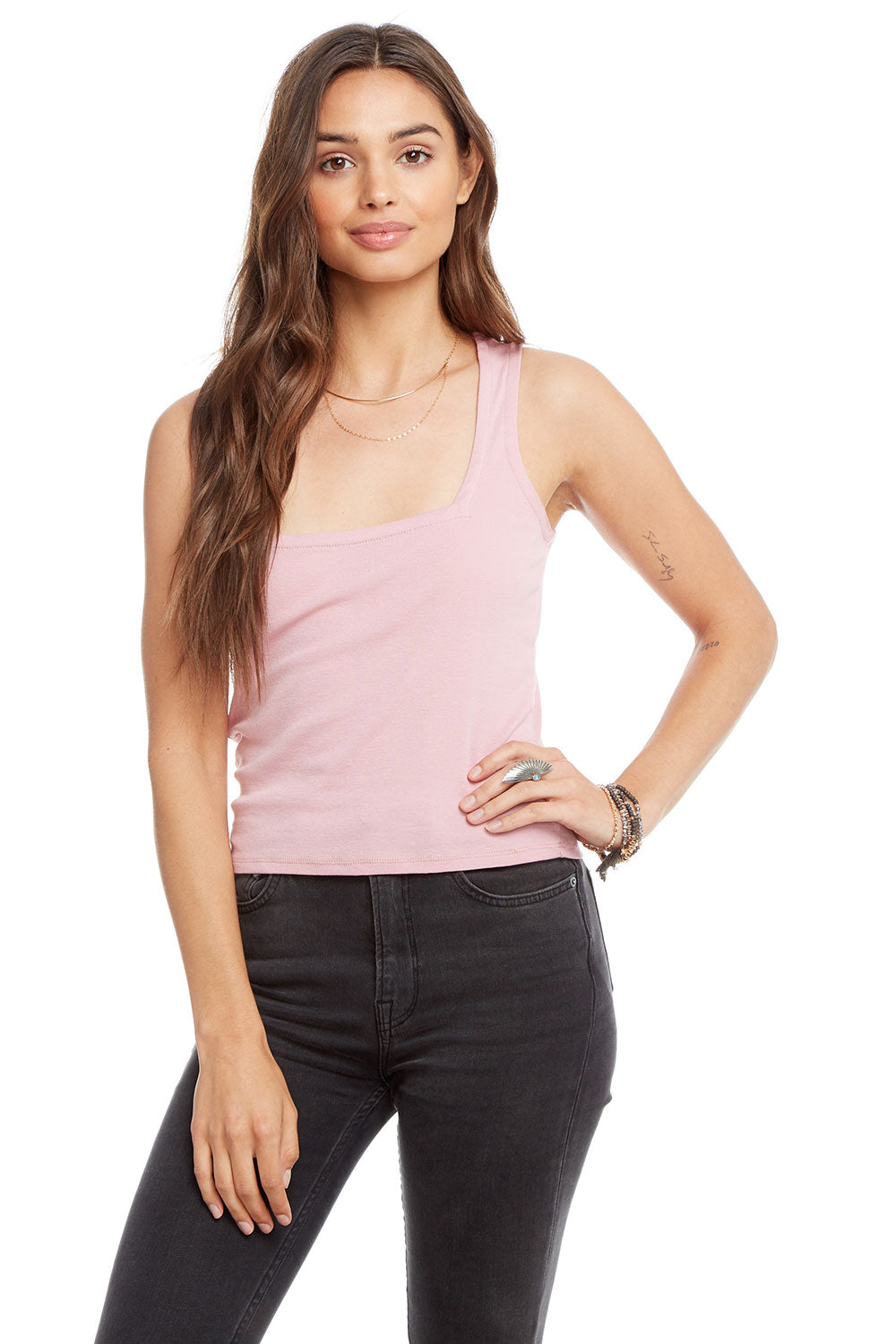 Baby Rib Square Neck Cropped Tank BCA chaserbrand4.myshopify.com