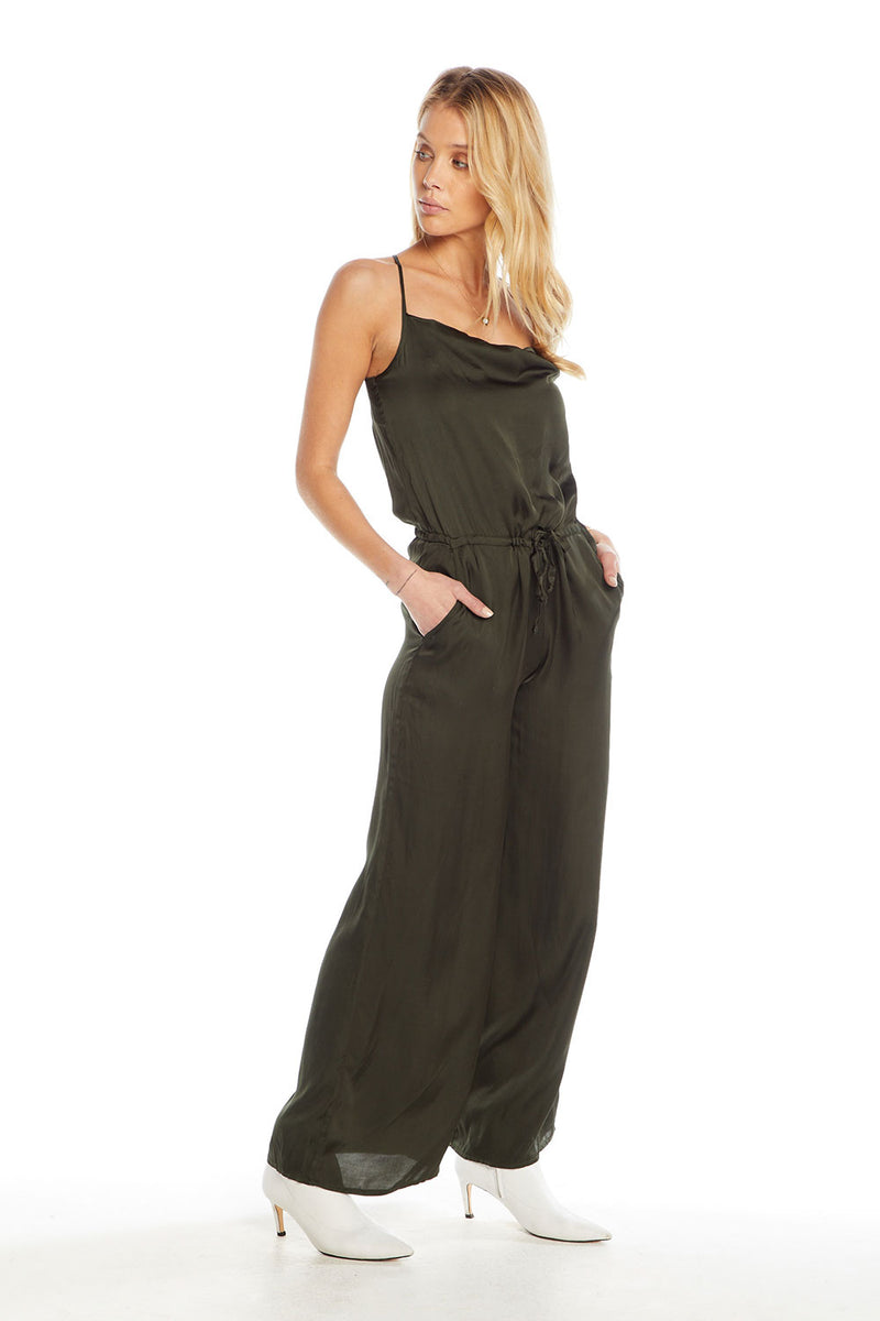 Silky Basics Cross Back Cowl Neck Jumpsuit WOMENS chaserbrand4.myshopify.com