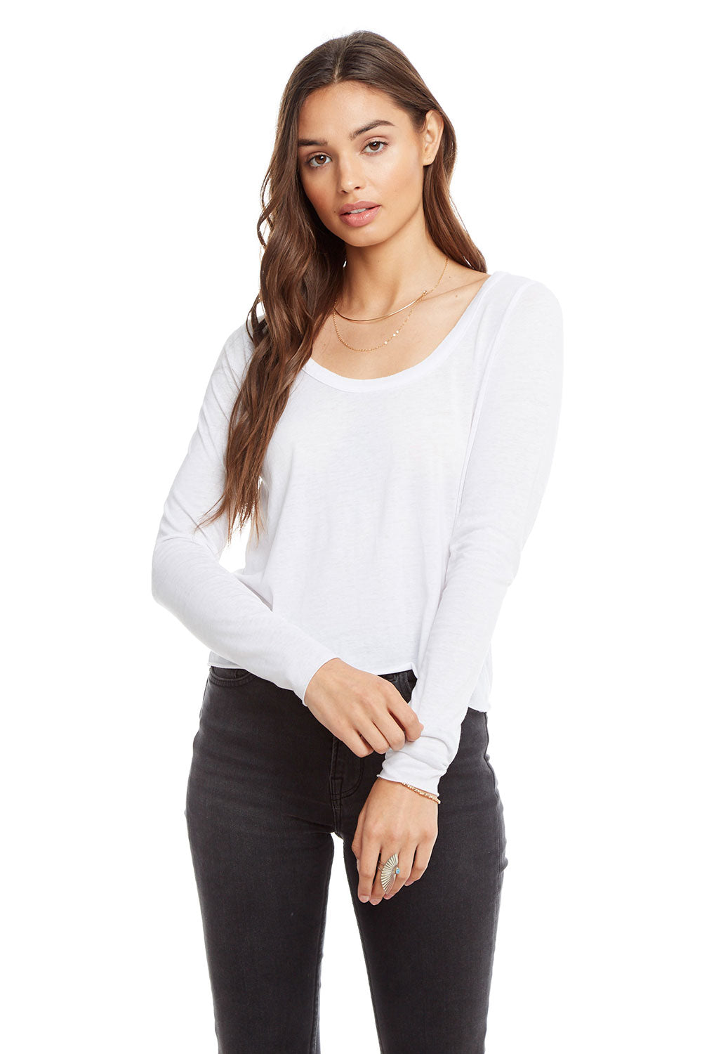 Vintage Jersey Long Sleeve Scoop Neck Crop Tee WOMENS chaserbrand4.myshopify.com