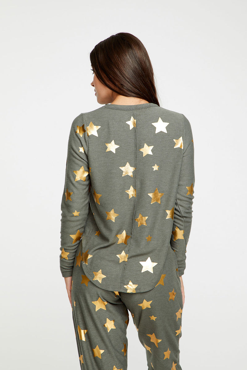 Gold Stars, WOMENS, chaserbrand.com,chaser clothing,chaser apparel,chaser los angeles